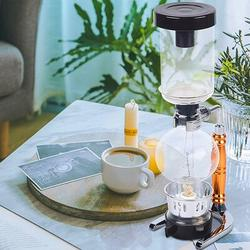 YANYU Siphon Coffee Maker, Siphon Coffee Brewer Tea Siphon Pot Vacuum Coffeemaker Glass Type Coffee Machine Filter 3 Cups in Brown   Wayfair