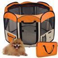 Tente octogonale pliable Portable pour animaux domestiques, Cage pour chat, parc pour chiot, chenil