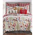 Levtex Home Quilt Sets Multi - Red & Green Forest Creatures Folk Deer Cotton Quilt Set