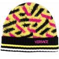 Colour-block Wool Beanie - Yellow - Versace Hats