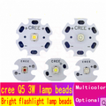 CREE XPE Q5 éblouissement lampe de poche 3W LAMPE À LED perles blanc chaud lumière rouge, vert et