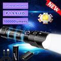 XHP199 – lampe de poche LED Super brillante, étanche, Rechargeable par USB, Zoom, lanterne tactique