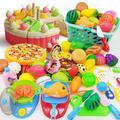 Maison de jeu de fruits pour enfants, ensemble de jouets, simulation ABS, gâteau de cuisine,