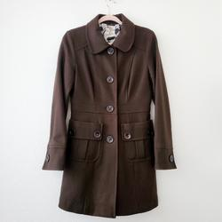Anthropologie Jackets & Coats | Anthropologie Tulle Brown Wool Coat | Color: Brown | Size: M