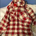 Columbia Shirts | Mens Szs Columbia Fleece Lined Flannel Shirt | Color: Cream/Red | Size: S
