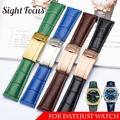 Bracelet de montre en cuir de vache véritable, 20mm, pour Rolex Datejust, Date, Bracelet de poignet,