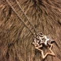 American Eagle Outfitters Jewelry | American Eagle Star Charm Long Necklace | Color: Gold/Silver | Size: 32 With 2 Extender