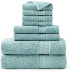 kingzone Turkish 8 100% Cotton Towel Set 100% Cotton in Blue, Size 27.0 W in | Wayfair 01TF224408W1SSCC1