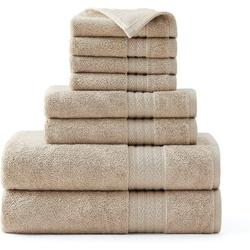 kingzone Turkish 8 100% Cotton Towel Set 100% Cotton in Brown, Size 27.0 W in   Wayfair 04TF224408W212VR9