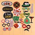 MOVTOTOP 24Pcs Funny Las Vegas Party Photo Booth Props w/ Wooden Sticks Creative Party Decoration Supplies (Glitter) | Wayfair 3029514-Z0007