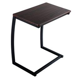 17 Stories Sofa Side End Table, C Table Snack Table w/ Metal Frame, Over Bed Table Industrial Side Table For Sofa Couch Bed, Living Room in Black