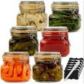 Latitude Run® Glass Jars w/ Lids Food Storage Jars w/ Airtight Lids Leak Proof Glass Canisters Kitchen Jars [Set Of 6 - 17 Oz] Glass | Wayfair
