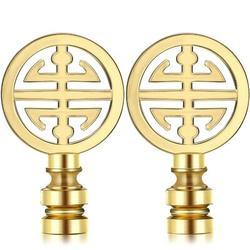 Red Barrel Studio® 2 Pieces Finial For Lamp Shade Oriental Lamp Finial Asian Lamp Finial Happiness Symbol Lamp Cap Knob Lamp Knob Top Asian Lamp Decoration China
