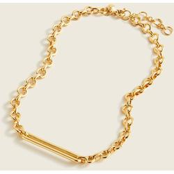 Chunky Chain Bar Necklace - Metallic - J.Crew Necklaces