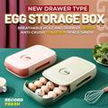 Nouvelle boîte de rangement à tiroirs po, boîte de rangement d'œufs de Type tiroir boîte de