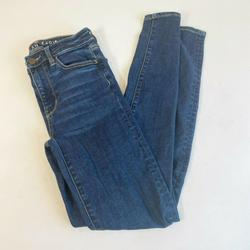 American Eagle Outfitters Jeans   American Eagle Womens Jegging Blue Sz 0 Denim Next Level Stretch High-Rise Jeans   Color: Blue   Size: 0