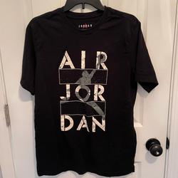 Nike Shirts | Nike Air Jordan Black T-Shirt Size M | Color: Black | Size: M