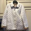 Burberry Jackets & Coats | Burberry Brit White Quilted Jacket Size Large | Color: White | Size: L