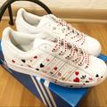 Adidas Shoes   Adidas Superstar Limited Edition Hearts   Color: Red/White   Size: 8