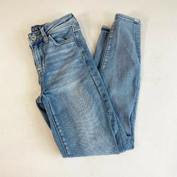 American Eagle Outfitters Jeans | American Eagle High Rise Jegging Denim Skinny Jeans Size 0 Blue Stretch Women'S | Color: Blue | Size: 0