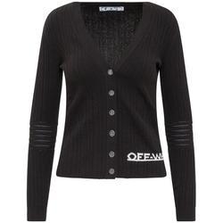 Logo Intarsia V-neck Sweater - Black - Off-White c/o Virgil Abloh Knitwear