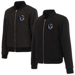 """Women's JH Design Black Los Angeles 2020 Dual Champions City of Champs Reversible Fleece Full-Snap Jacket"""