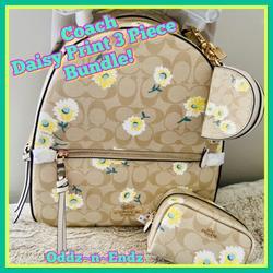 Coach Bags   Coach Jordyn Backpack 3 Pce Bundle Wdaisy Print   Color: Cream/White   Size: Backpack 10 12(L) X 12 14(H) X 3 34(W)