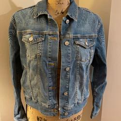 Lularoe Jackets & Coats | Lularoe Denim Harvey Jean Jacket Size Small | Color: Blue | Size: S