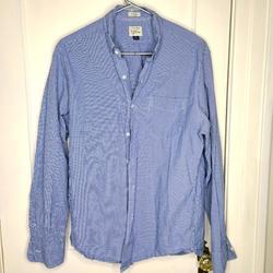 J. Crew Shirts   J Crew Classic Fit Cotton Plaid Shirt   Color: Blue/White   Size: M