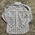 Columbia Shirts | Grey Plaid Pfg Super Bahama Long Sleeve Shirt | Color: Blue/Gray | Size: S