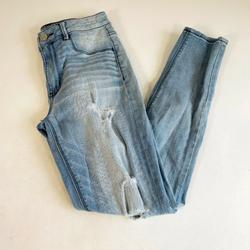 American Eagle Outfitters Jeans | American Eagle Womens Sky High Rise Jegging Skinny Jeans Blue 4 Denim Stretch | Color: Blue | Size: 4