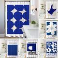 Rideau de douche à fleurs style nordique, rideau de séparation, paravent de porte de salle de bain