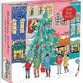 Anthropologie Games   Christmas Carolers Square 1000 Piece Jigsaw Puzzle   Color: Green/Yellow   Size: 1000 Pieces