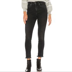 Free People Jeans   Free People High Rise Jegging In Black Denim Jean   Color: Black   Size: 26