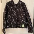 Kate Spade Jackets & Coats | Kate Spade Reversible Quilted Jacket Whearts Sz L | Color: Black/White | Size: L