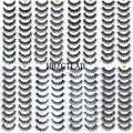 HBZGTLAD – Kit de maquillage, 5/10 paires de faux-cils en vison 100% naturel 3D, extensions de cils