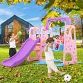 COCO 3 In 1 Multi-Function Kid's Toy Slide Swing Set in Green/Yellow, Size 49.5 H x 51.0 W x 64.0 D in | Wayfair I02ZCC200708481