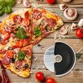 LINYI FLY Pizza Wheel w/ Sharp Blade, Pizza Slicer w/ Comfortable Feel & Safety Rubber Guard in Black, Size 4.5 H x 4.9 W in | Wayfair