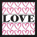 Latitude Run® Love - Pink Sharpie By Louise Carey, Framed Wall Art in Brown/Pink, Size 13.25 H x 13.25 W x 1.0 D in | Wayfair
