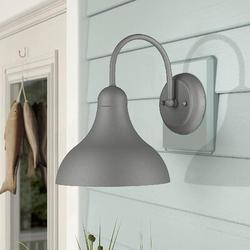 Longshore Tides Outdoor Barn Sconce, Farmhouse Barn Light, Outdoor Wall Lighting Fixture, Exterior Wall Sconces, Size 11.79 H x 9.0 W x 11.9 D in
