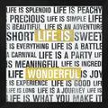 Latitude Run® Life Is Yellow By Michael Mullan, Framed Wall Art in Black/Brown/Yellow, Size 13.25 H x 13.25 W x 1.0 D in | Wayfair