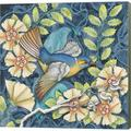 Alcott Hill® Arts & Crafts Bird III By Elyse Deneige, Canvas Wall Art Canvas & Fabric in Blue/Brown/Green, Size 24.0 H x 24.0 W x 1.5 D in | Wayfair