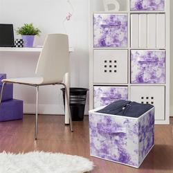 17 Stories Cube Storage Bins Cube Foldable Fabric Basket Bin Box Shelves Cubby Cloth Organizer - Great For Nursery Closet Shelf, Playroom   Wayfair