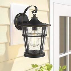 Canora Grey Outdoor Wall Lights, Outdoor Wall Sconces, Exterior Wall Mount Light, Wall Lighting Fixture in Black/White   Wayfair