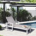 Red Barrel Studio® Arttoreal Aluminum Reclining Chaise Lounge Set in White, Size 13.6 H x 54.2 W x 78.7 D in   Wayfair