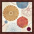 Red Barrel Studio® Abstract Bouquet II By Veronique Charron, Framed Wall Art in Brown/Orange/Red, Size 13.25 H x 13.25 W x 1.0 D in | Wayfair
