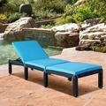 Latitude Run® Patio Furniture Outdoor Adjustable PE Rattan Wicker Chaise Lounge Chair Sunbed Set Of 2 Wicker/Rattan | Wayfair