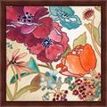 Red Barrel Studio® Le Jardin Colorful I By Lanie Loreth, Framed Wall Art in Brown/Red, Size 13.25 H x 13.25 W x 1.0 D in | Wayfair