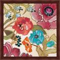 Red Barrel Studio® Le Jardin Colorful II By Lanie Loreth, Framed Wall Art in Brown/Red, Size 13.25 H x 13.25 W x 1.0 D in | Wayfair