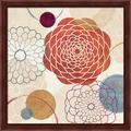 Red Barrel Studio® Abstract Bouquet I By Veronique Charron, Framed Wall Art in Brown/Red, Size 13.25 H x 13.25 W x 1.0 D in | Wayfair